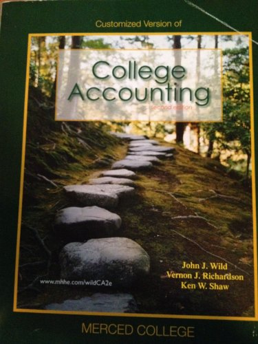 9780077487423: College Accounting Second Edition (Merced College)