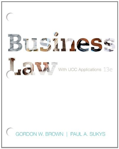 9780077488826: Loose-Leaf for Brown Business Law