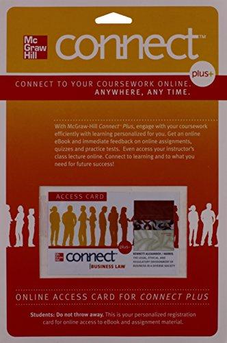 9780077488925: Connect Plus Legal Environment of Business 1 Semester Access Card for Bennett Legal Envir of Bus 1e