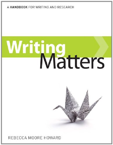 9780077489243: Writing Matters, Tabbed (comb-bound) with Connect Composition (SEALWORKS) Plus