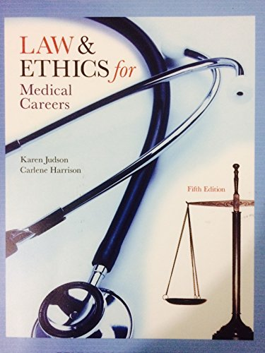 9780077490379: Law & Ethics for Medical Careers