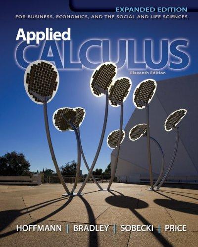 Loose Leaf Version for Applied Calculus: Laurence D. Hoffmann