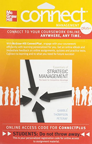 9780077492694: Connect Plus Management 1 Semester Access Card for Essentials of Strategic Management