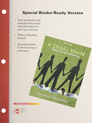 9780077493059: Looseleaf for A Childs World: Infancy Through Adolescence