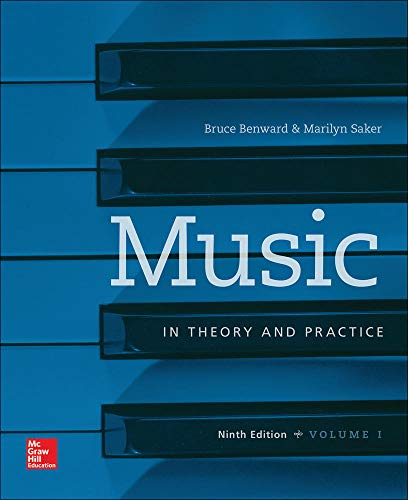 9780077493318: Workbook t/a Music in Theory and Practice, Volume I