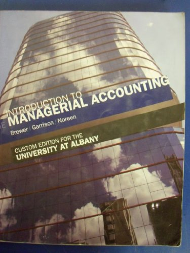 9780077495138: Introduction to Managerial Accounting [5e] (University At Albany)