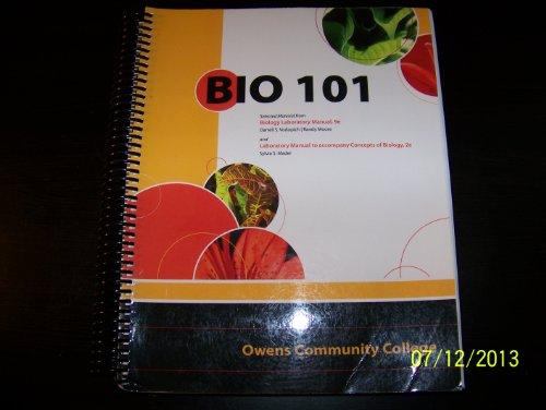 9780077496272: Owens Community College Bio 101 Lab Manual