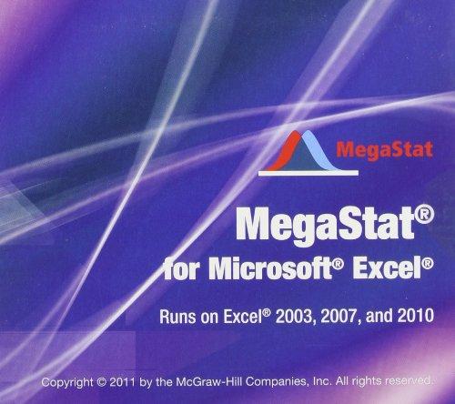 9780077496449: MegaStat for Excel