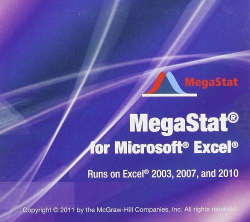 9780077496449: MegaStat for Excel