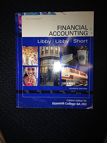 9780077496654: Financial Accounting, 7e-Custom Edition for Stonehill College BA 203
