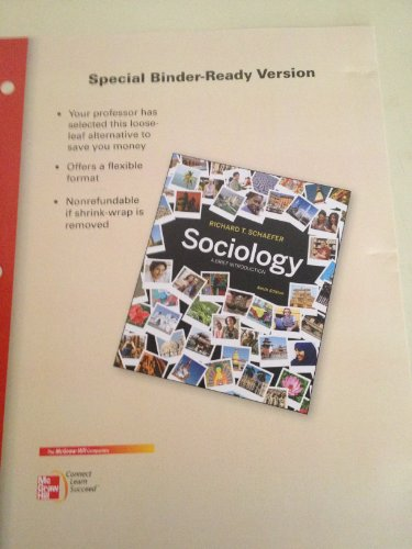 9780077496968: Looseleaf for Sociology: A Brief Introduction