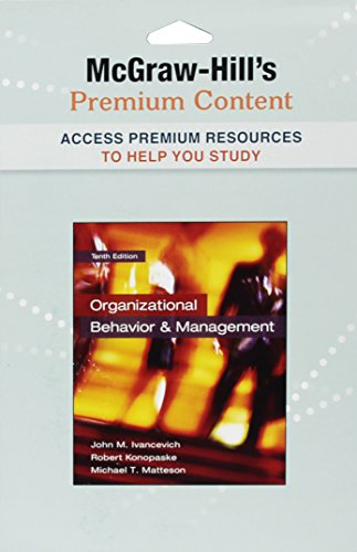 9780077499341: Premium Content Card for Organizational Behavior and Management