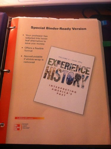 Looseleaf for Experience History V2: Since 1865: Stoff, Michael, Lytle,