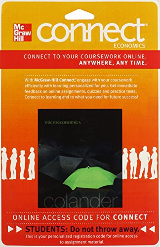 9780077501815: Connect Economics with Learnsmart One Semester Access Card for Microeconomics