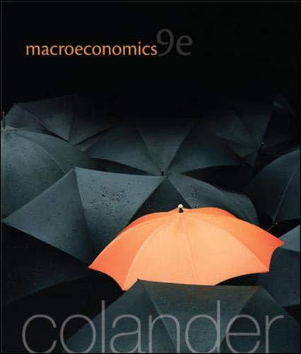 Macroeconomics (McGraw-Hill Economics): Colander, David