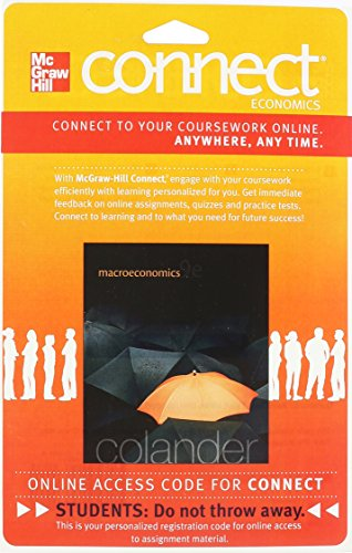 9780077502058: Connect Economics with LearnSmart One Semester Access Card for Macroeconomics