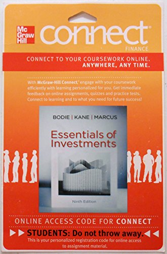 9780077502201: Connect Finance 1S Access Card for Essentials of Investments