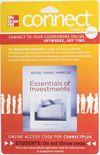 9780077502225: Connect 1-Semester Access Card for Essentials of Investments