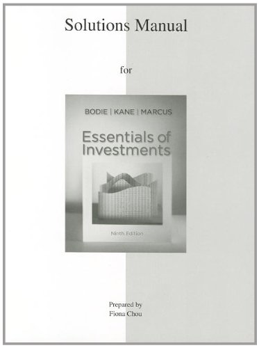 9780077502249: Solutions Manual to accompany Essentials of Investments