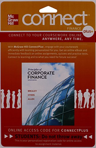 9780077502454: Connect Plus Finance 1S Access Card for Principles of Corporate Finance
