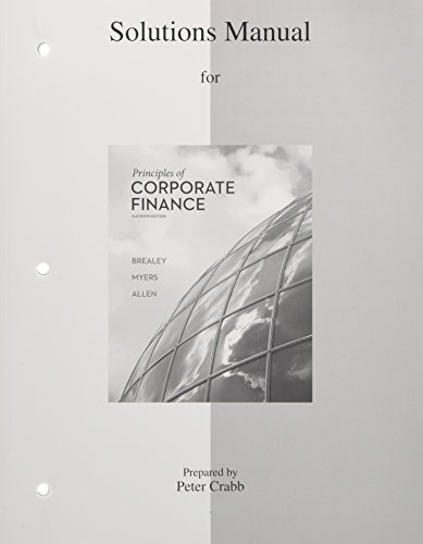 9780077502478: Solutions Manual to accompany Principles of Corporate Finance