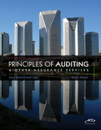 9780077504007: Principles of Auditing & Assurance Services with ACL software CD + Connect Plus