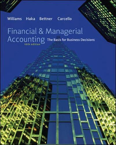 Financial & Managerial Accounting with Connect Plus: Williams, Jan, Haka,