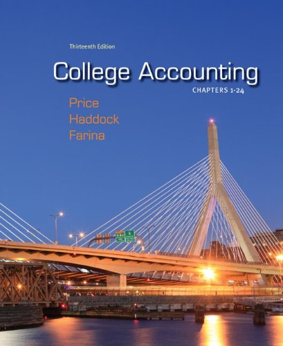9780077504045: College Accounting Chapters 1-24 with Connect Plus