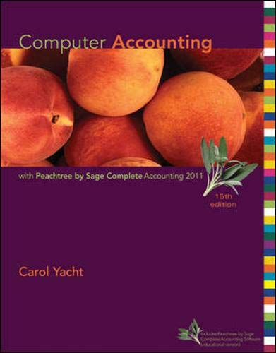 9780077505035: Computer Accounting with Peachtree by Sage Complete Accounting 2011