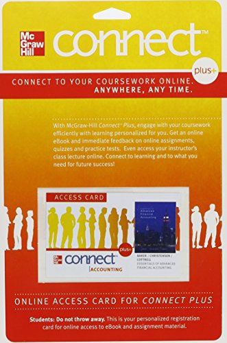 9780077505226: Connect Plus Accounting 1 Semester Access Card for Essentials of Advanced Financial Accounting