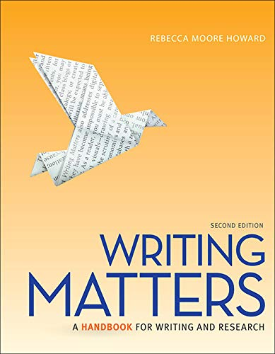 9780077505974: Writing Matters(A Handbook for Writing and Research)