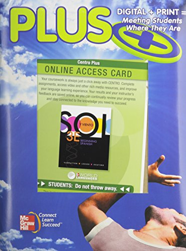 9780077506216: Plus W/ Online Access Card: McGraw-Hill's Teaching and Learning Program for Beginning Spanish