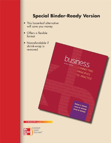9780077506551: Loose Leaf Business: Connecting Principles to Practice