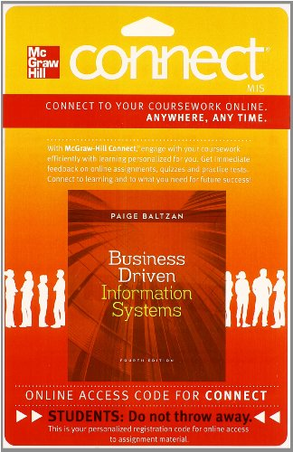 9780077506704: Connect with LearnSmart Access Card for Business Driven Information Systems