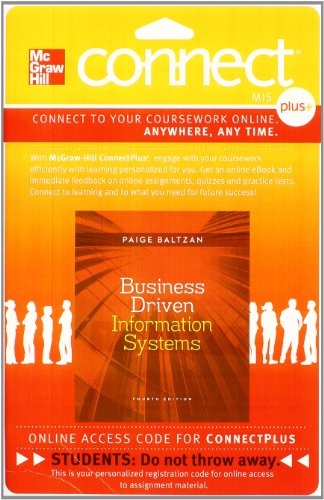 9780077506728: Connect Plus with LearnSmart Access Card for Business Driven Information Systems