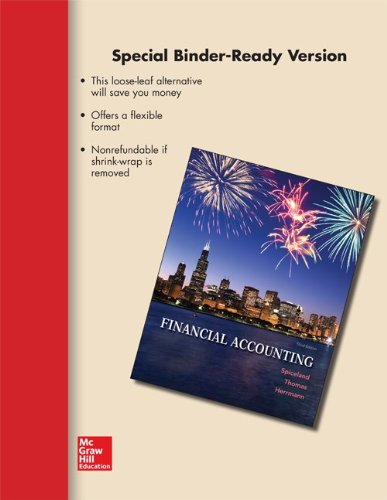 LOOSE-LEAF VERSION FINANCIAL ACCOUNTINg: Spiceland, J. David,