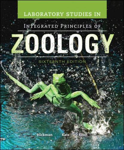 Laboratory Studies in Integrated Principles of Zoology: Hickman Jr. Emeritus,