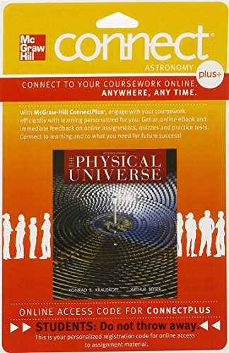 9780077510503: Connect 1-Semester Access Card for The Physical Universe