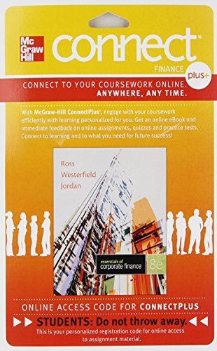 9780077511227: Connect 1-Semester Access Card for Essentials Corporate Finance