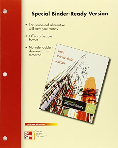 9780077511272: Loose Leaf for Essentials of Corporate Finance