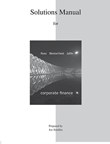 9780077511340: SOLUTIONS MANUAL FOR CORPORATE FINANCE