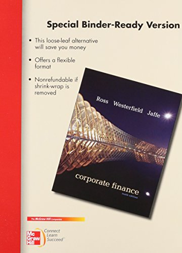 corporate finance ross ross westerfield Available in: hardcover essentials of corporate finance by ross, westerfield, and jordan is written to convey the most important concepts and principles.