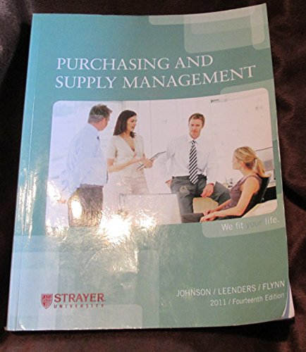 9780077511401: Purchasing and Supply Management