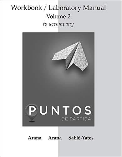 9780077511708: WORKBOOK/LAB MANUAL V2 FOR PUNTOS DE PARTIDA: INVITATION TO SPANISH
