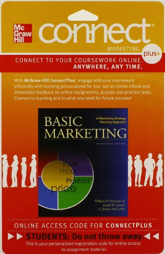 9780077512460: Connect 1-Semester Access Card for Basic Marketing