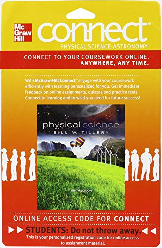 9780077515140: CONNECT PHYSICAL SCIENCE W/ LEARNSMART 1 SEMESTER ACCESS CARD FOR TILLERY: PS
