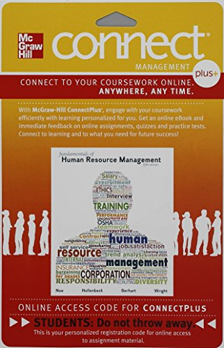 9780077515515: Connect 1-Semester Access Card for Fundamentals of Human Resource Management