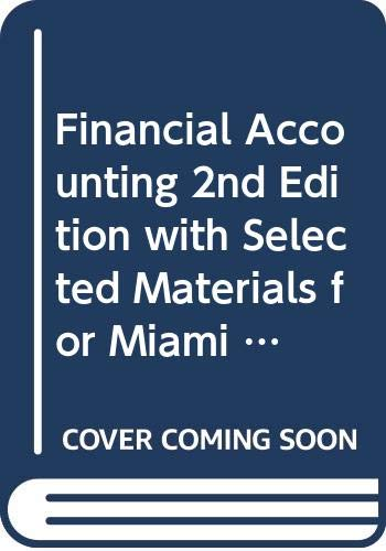 Financial Accounting 2nd Edition with Selected Materials: Spiceland, Thomas, Herrmann