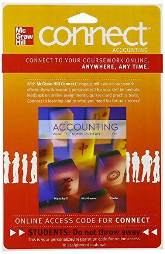 9780077515836: CONNECT ACCOUNTING 1S ACCESS CARD FOR ACCOUNTING: WHAT THE NUMBERS MEAN