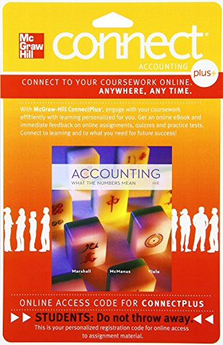 9780077515850: Connect 1-Semester Access Card for Accounting: What the Numbers Mean